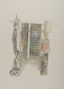 Ölkreidestift und Bleistift auf Papier, 45 × 58 cm, 2015
