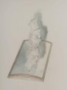 Ölkreidestift und Bleistift auf Papier, 70 × 93 cm, 2016