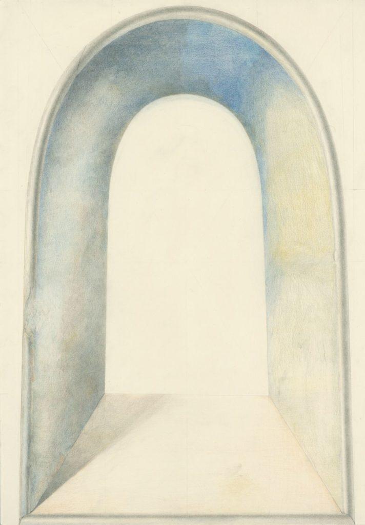 Ölkreidestift und Bleistift auf Papier, 42 × 29 cm, 2016